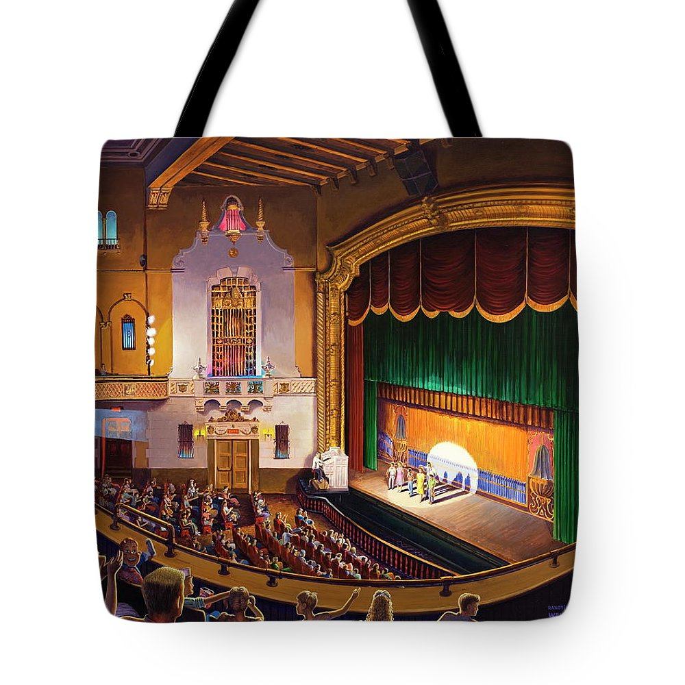 Jefferson Theatre Tote Bag featuring the painting Organ Club - Jefferson by Randy Welborn