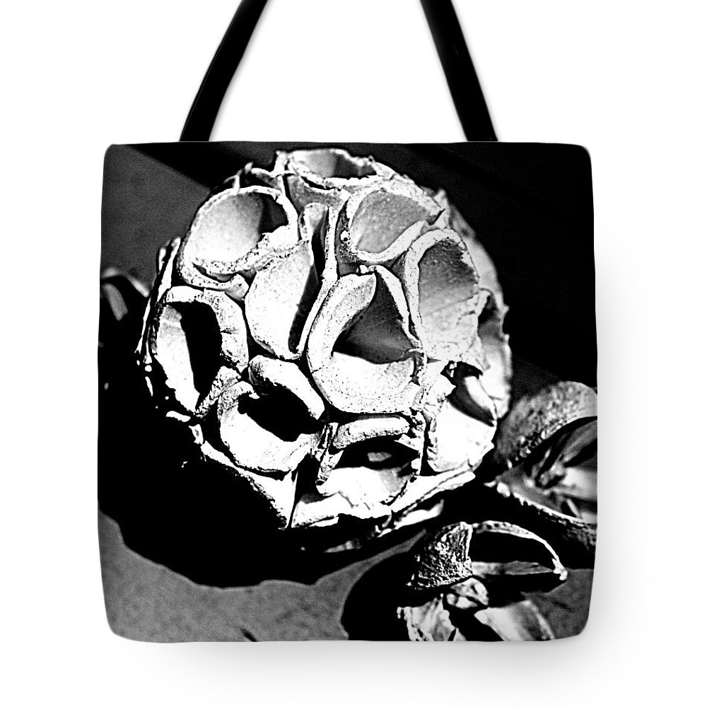 Black And White Tote Bag featuring the photograph Organic Textures by Diana Cardosi-Bussone