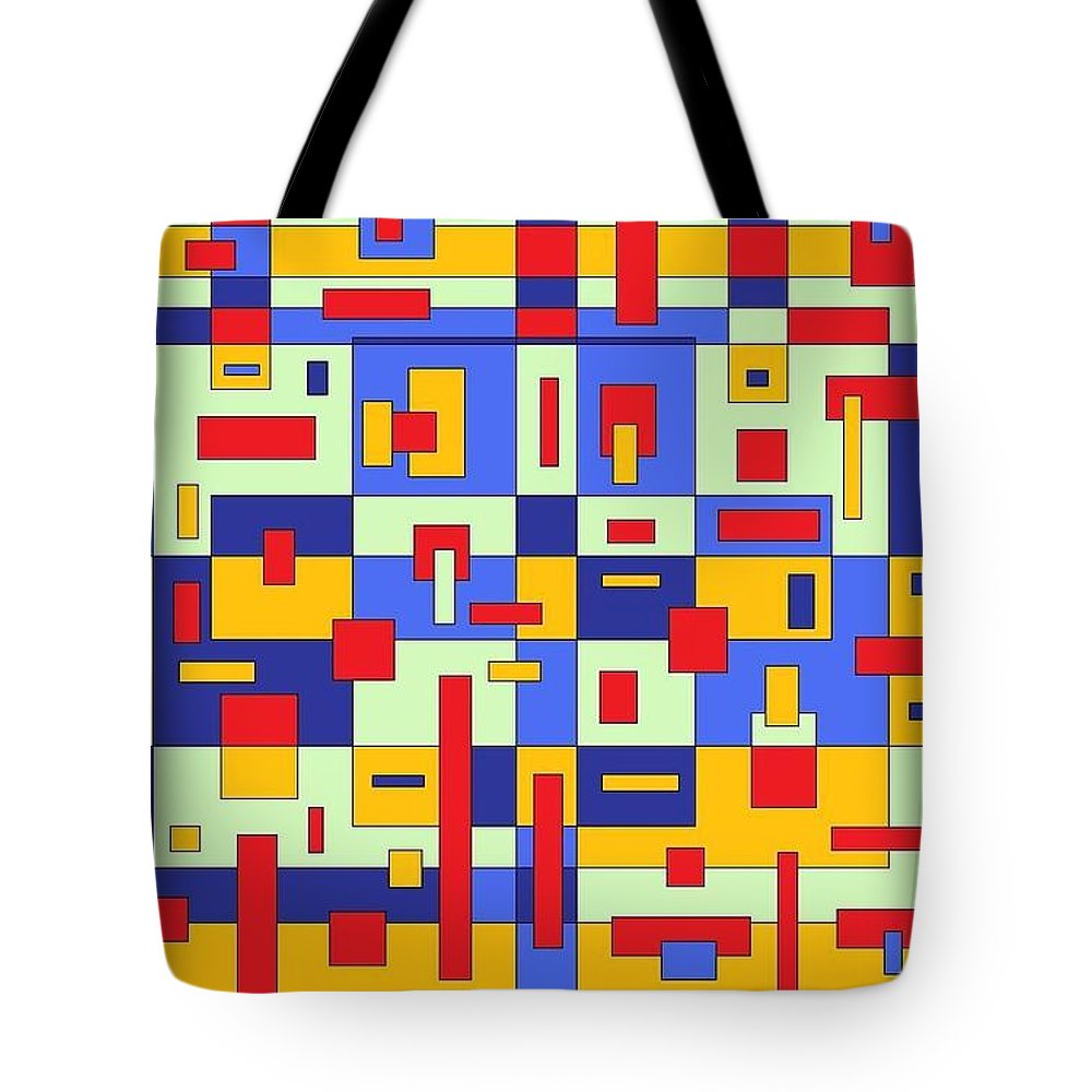 Digital Artwork Tote Bag featuring the painting Organize by Jordana Sands