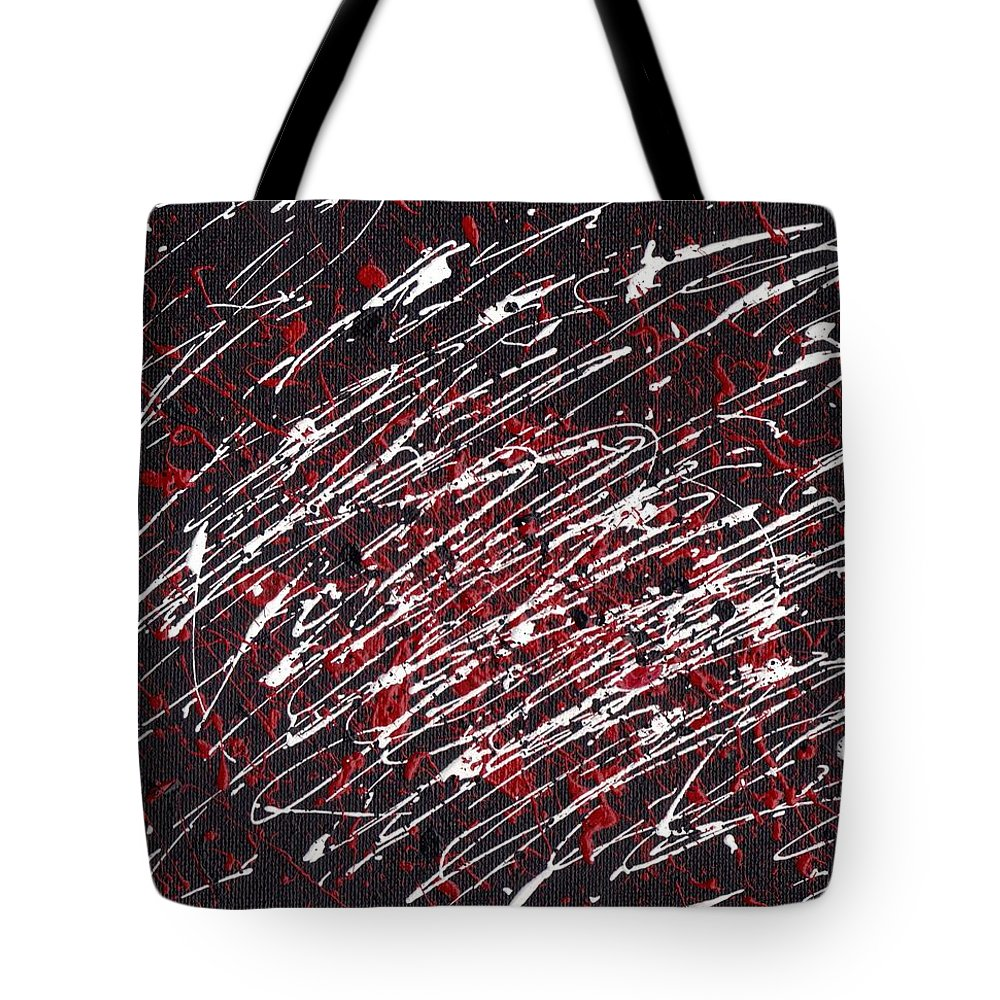 Swirls Tote Bag featuring the painting Organized Chaos by Jill Christensen