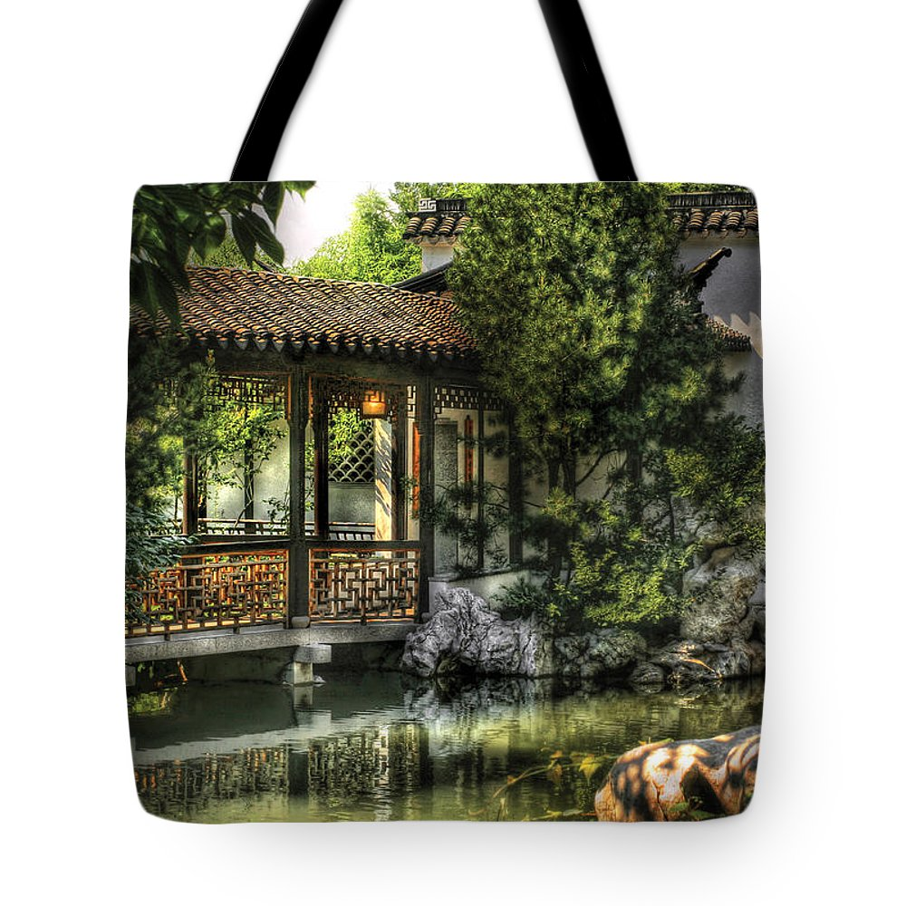Savad Tote Bag featuring the photograph Orient - Bridge - The Bridge by Mike Savad