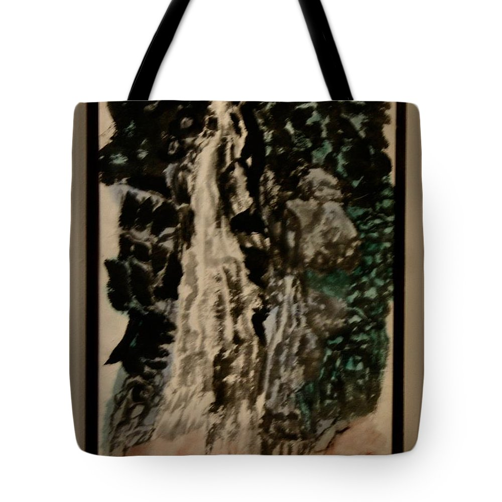 Landscape Tote Bag featuring the painting Oriental Falls by Larry Wilkinson