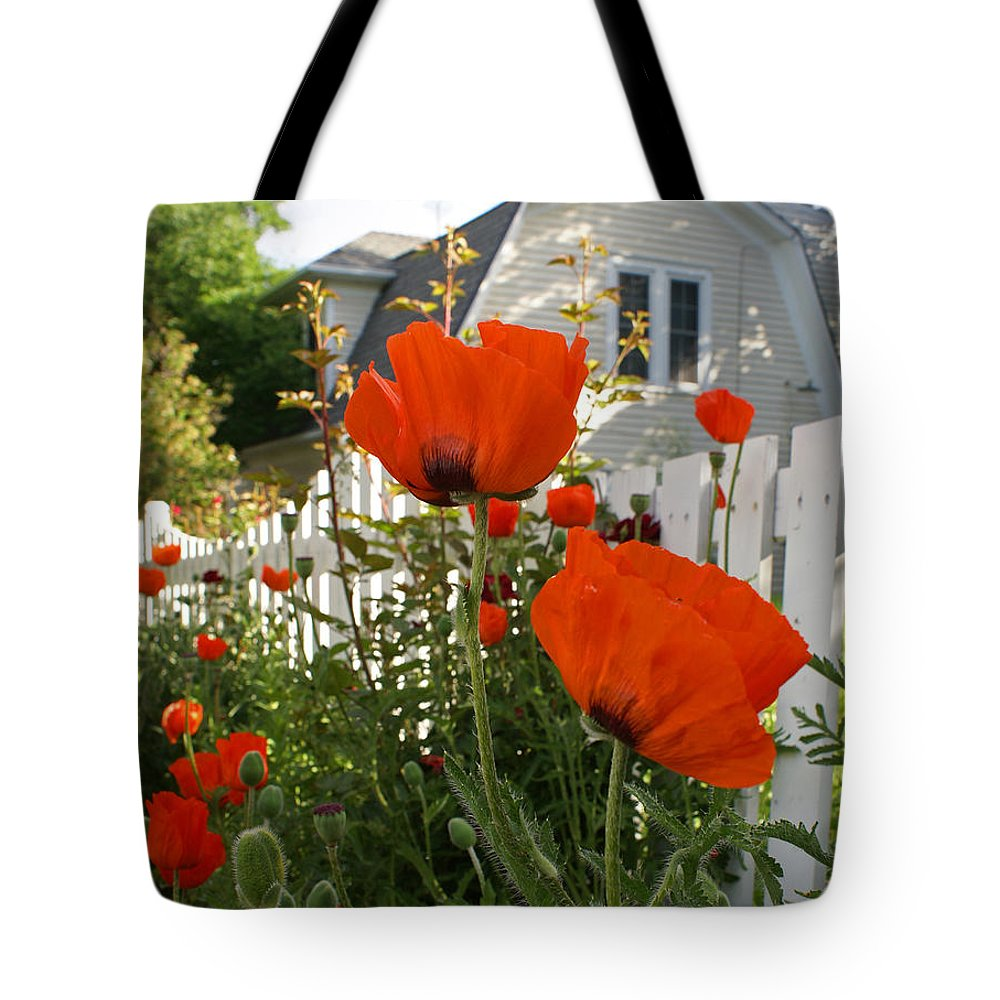 Poppies Tote Bag featuring the photograph Oriental Poppies by Heather Coen