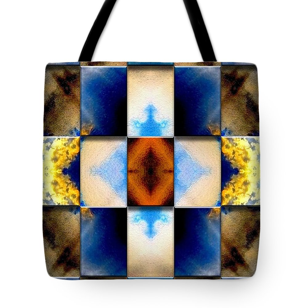 Abstract Digital Art Tote Bag featuring the digital art Origin Of All Things by Mark Sellers