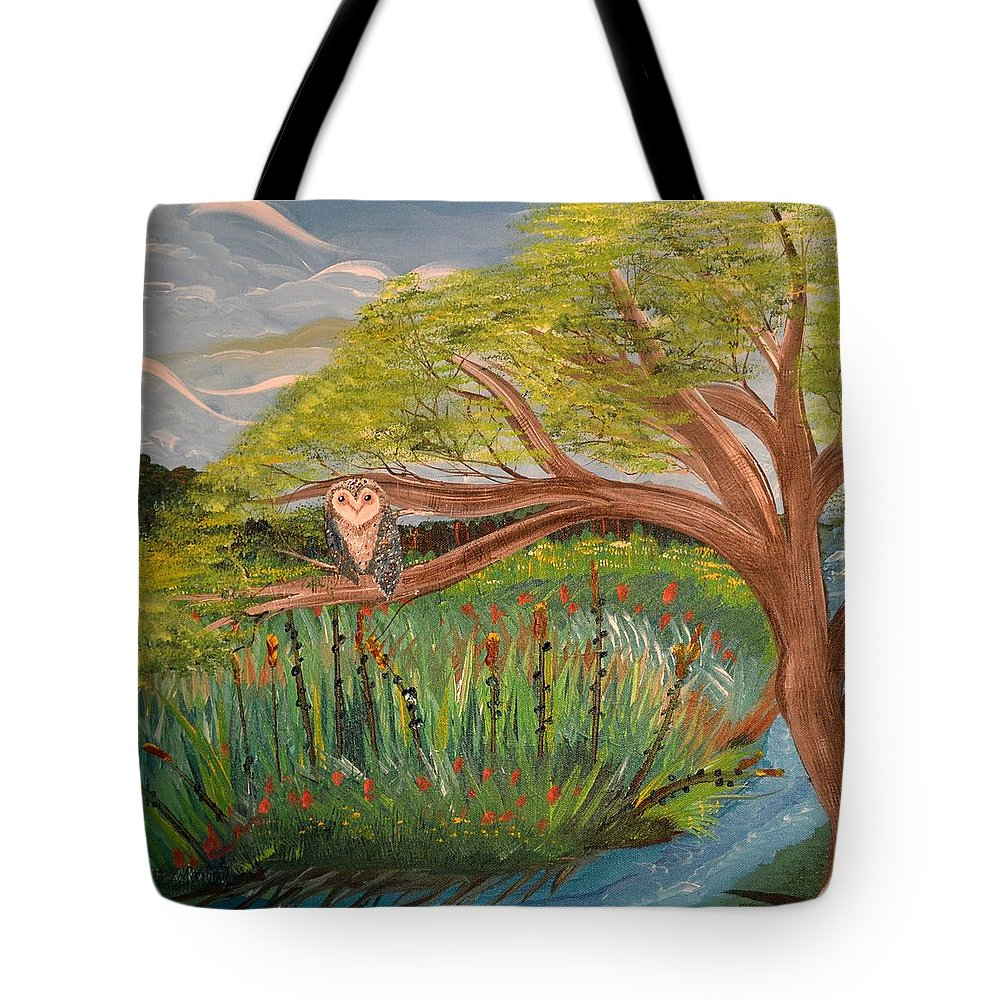 Monet Tote Bag featuring the painting Original Acrylic Artwork By Mimi Stirn - Hoomasters Collection Hoomonet #413 by MiMi Stirn