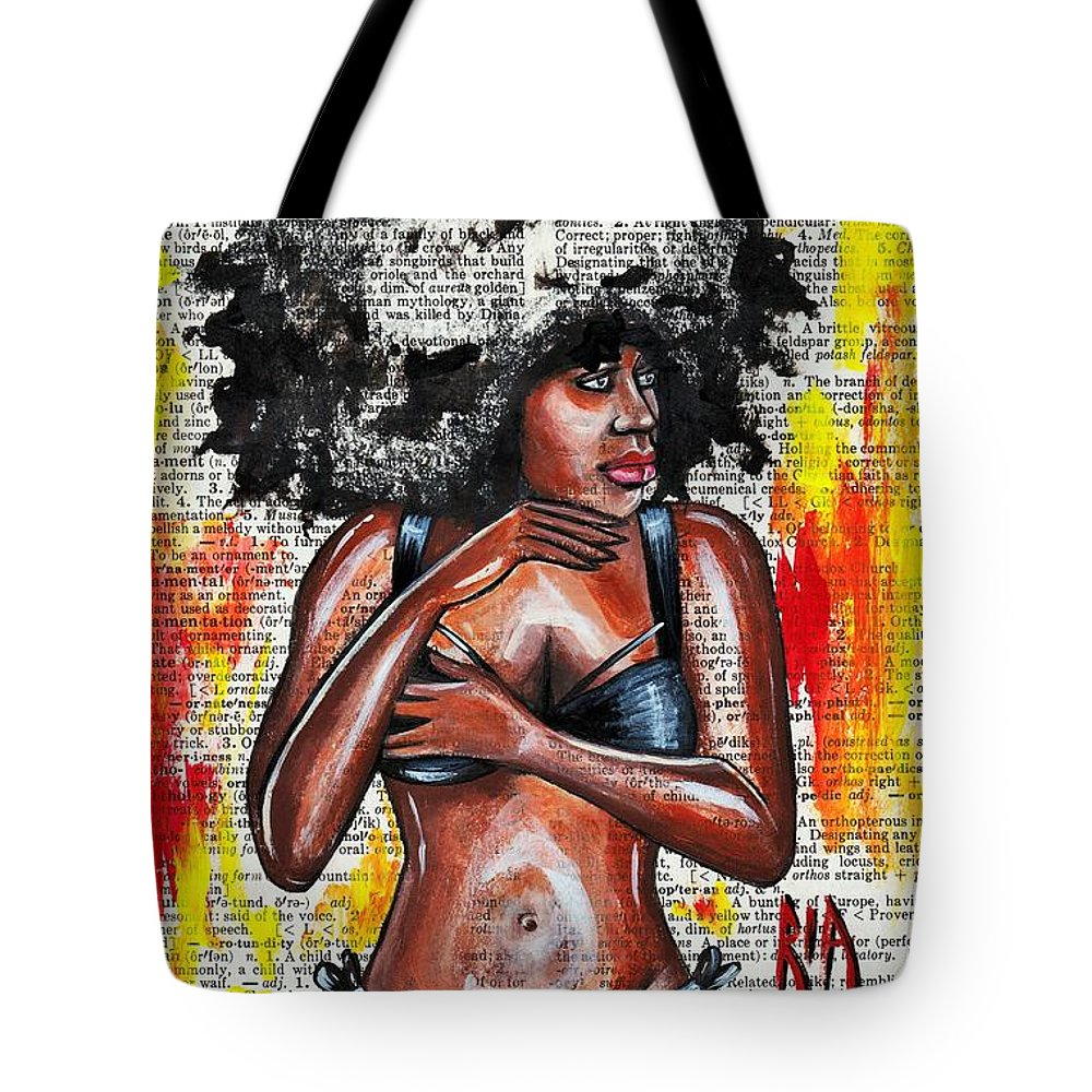 Bikini Tote Bag featuring the drawing Originality by Artist RiA