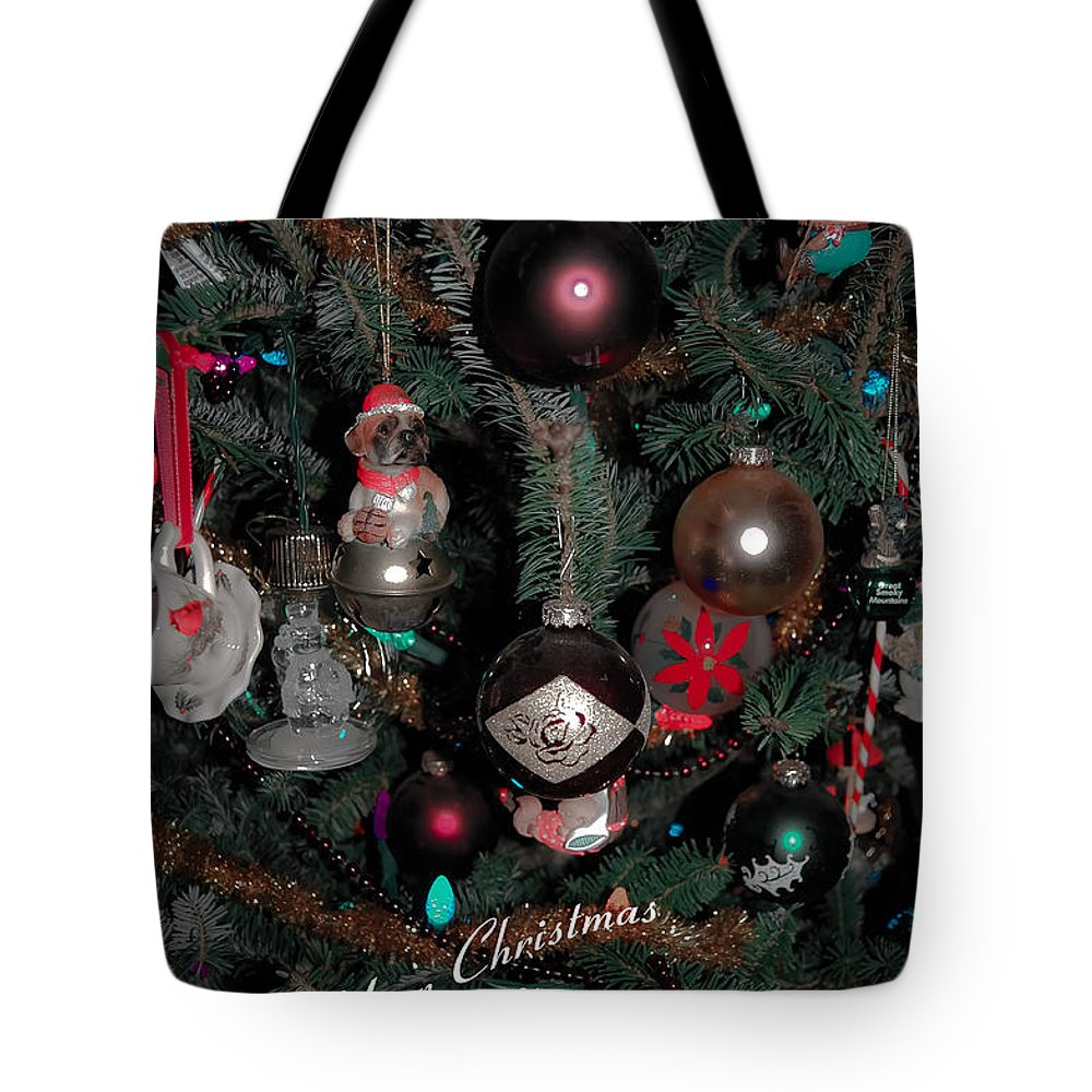 Christmas Tote Bag featuring the digital art Ornamental by DigiArt Diaries by Vicky B Fuller