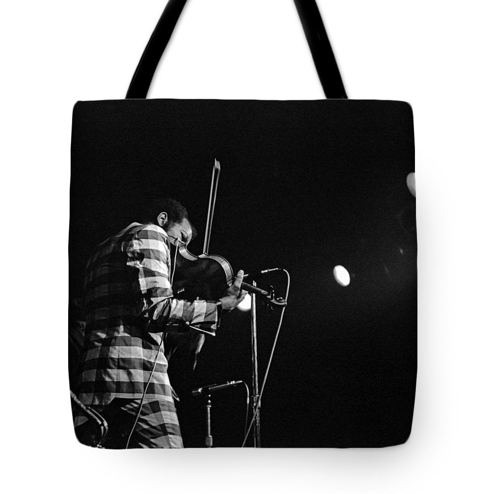 Ornette Coleman Tote Bag featuring the photograph Ornette Coleman On Violin by Lee Santa