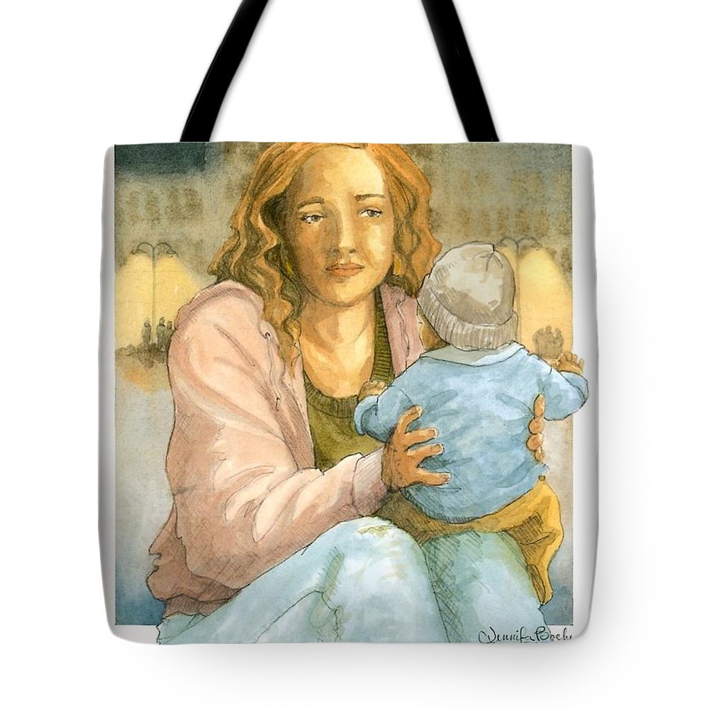 Christian Tote Bag featuring the painting Orphans And Widows by Jennifer Boeke