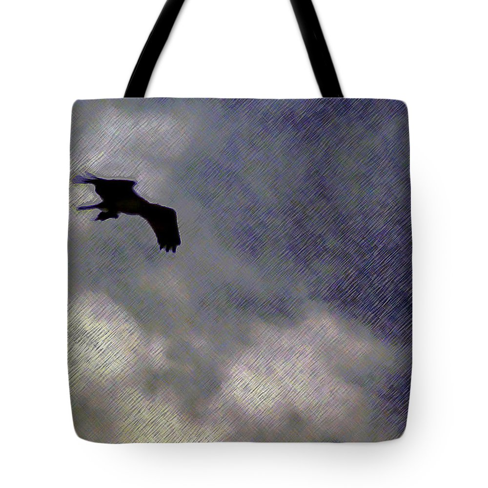 2d Tote Bag featuring the photograph Osprey Silhouette by Brian Wallace