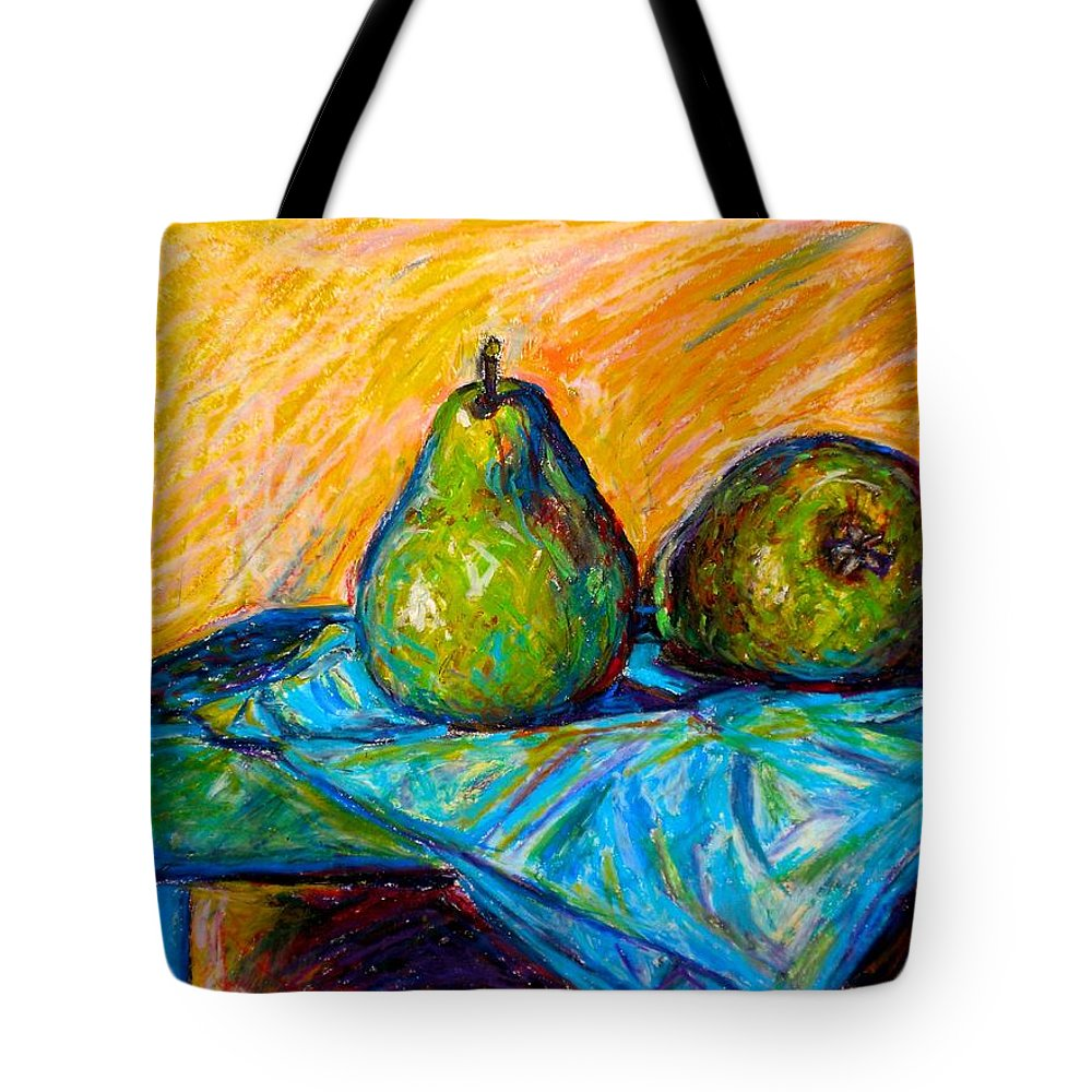 Still Life Tote Bag featuring the painting Other Pears by Kendall Kessler
