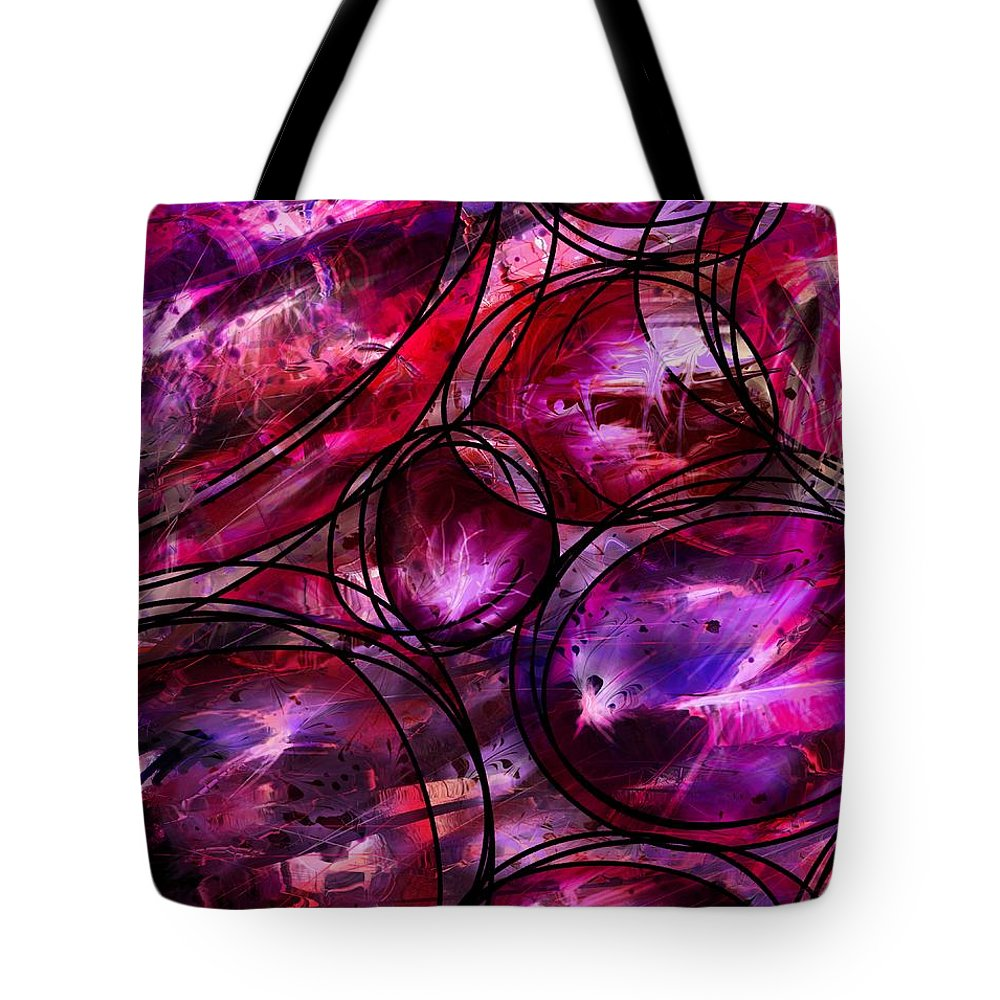 Abstract Tote Bag featuring the digital art Other Worlds by William Russell Nowicki