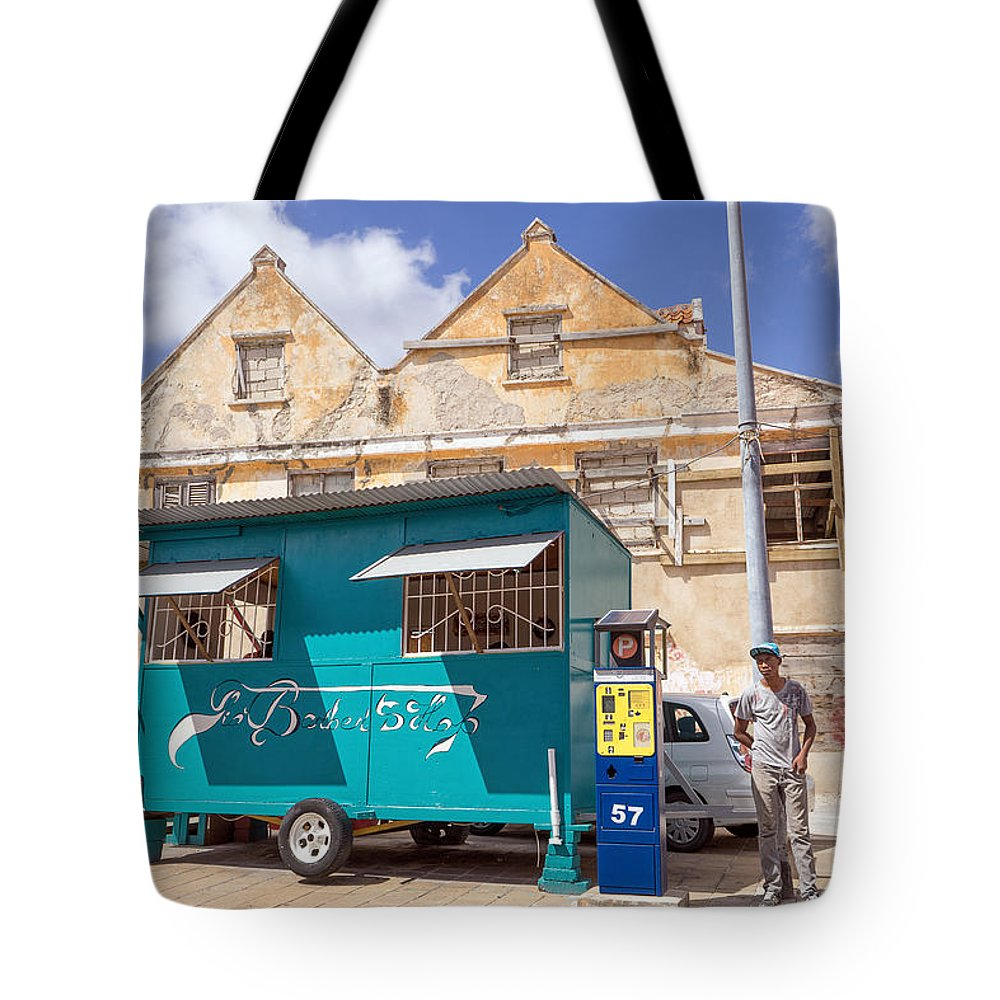 Architecture Tote Bag featuring the photograph Otrobanda Barber Shpop by For Ninety One Days