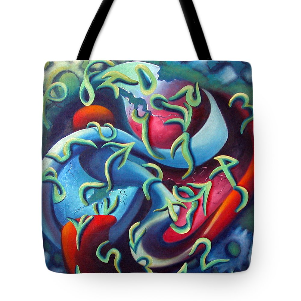 Clocks Tote Bag featuring the painting Our Inner Clocks by Elizabeth Lisy Figueroa