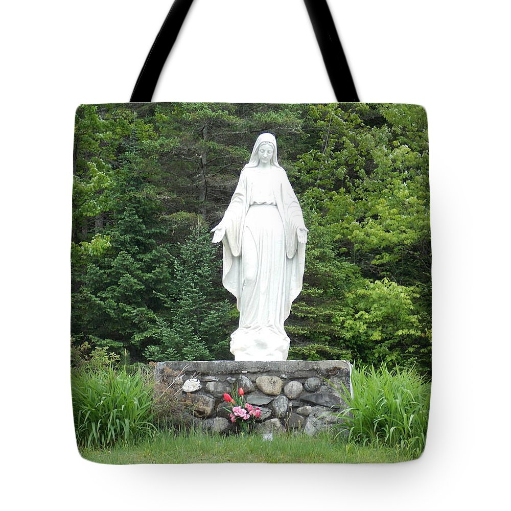 Our Lady Of Grace Tote Bag featuring the photograph Our Lady Of Grace by Catherine Gagne