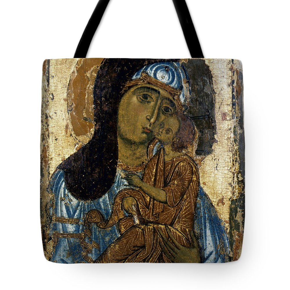 12th Century Tote Bag featuring the photograph Our Lady Of Tenderness by Granger