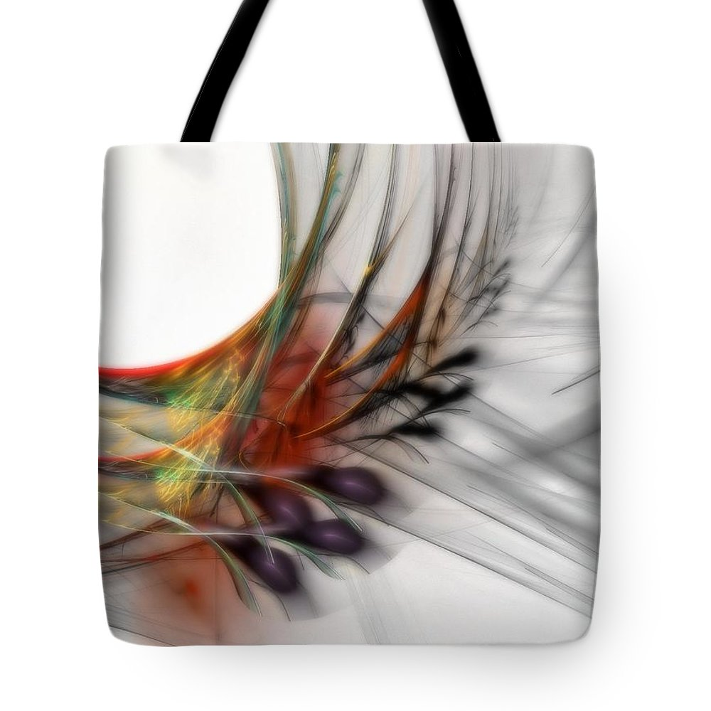 Abstract Tote Bag featuring the digital art Our Many Paths by NirvanaBlues