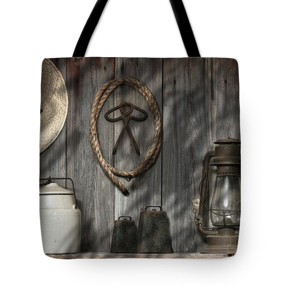 Barn Tote Bag featuring the photograph Out In The Barn IIi by Tom Mc Nemar