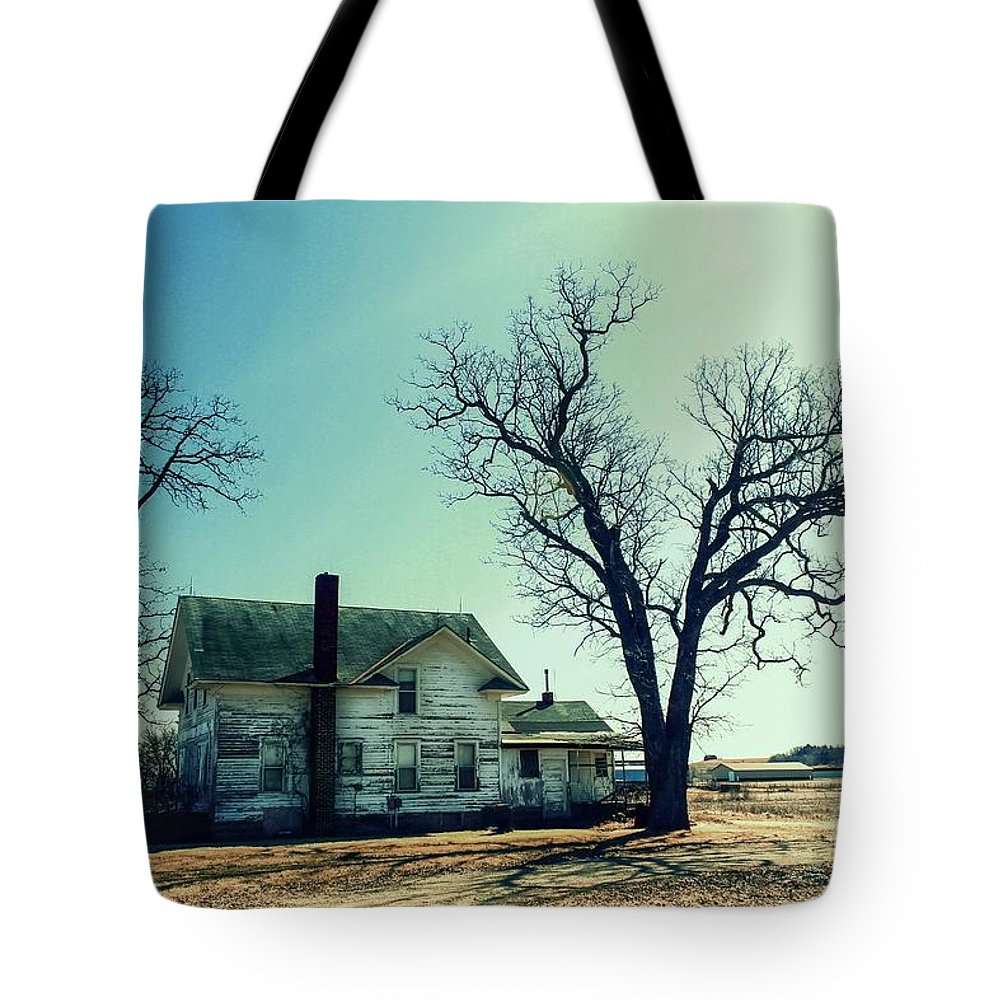 Abandoned House. Tote Bag featuring the photograph Out In The Open by Lowell Stevens