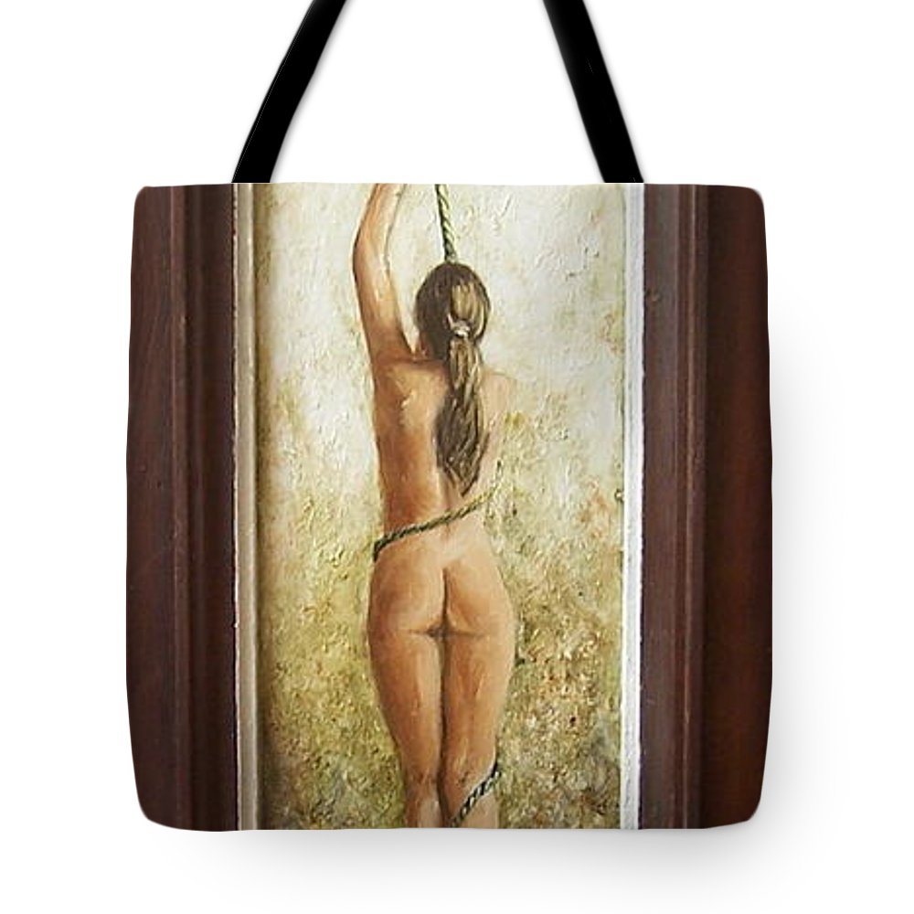 Figurative Tote Bag featuring the painting Out Of Chess by Natalia Tejera