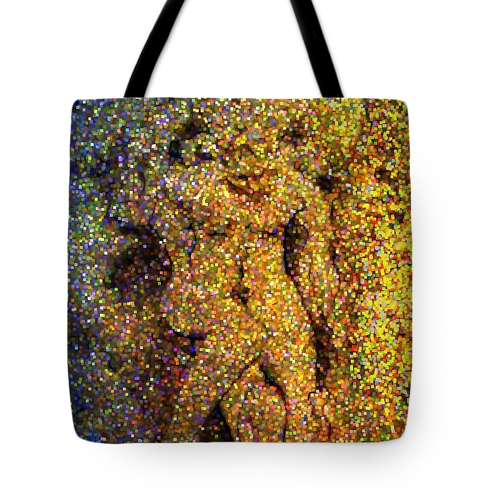 Abstract Tote Bag featuring the digital art Out Of Eden by Dave Martsolf