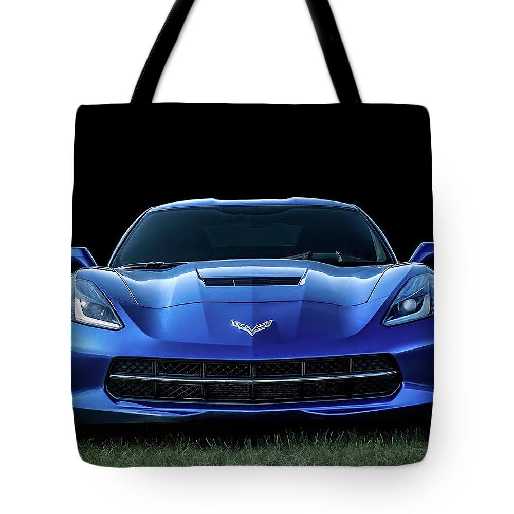 Chevrolet Digital Art Tote Bags