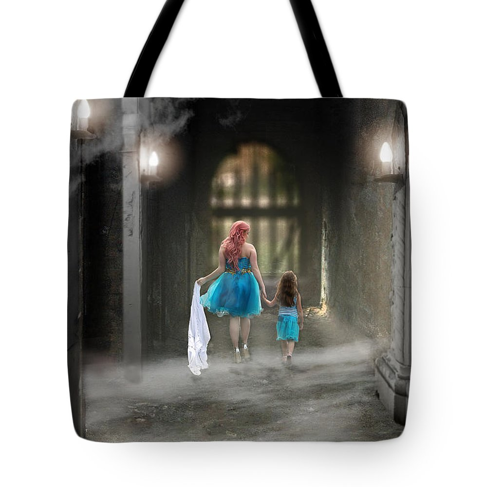 Fog Tote Bag featuring the photograph Out Of The Darkness by Brenda Giasson