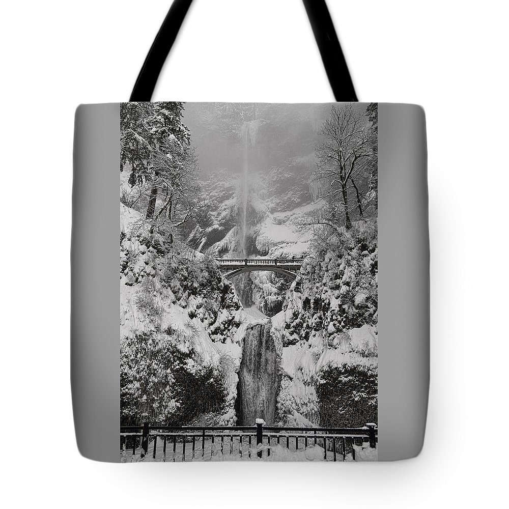 Out Of The Fog Tote Bag featuring the photograph Out Of The Fog by Wes and Dotty Weber