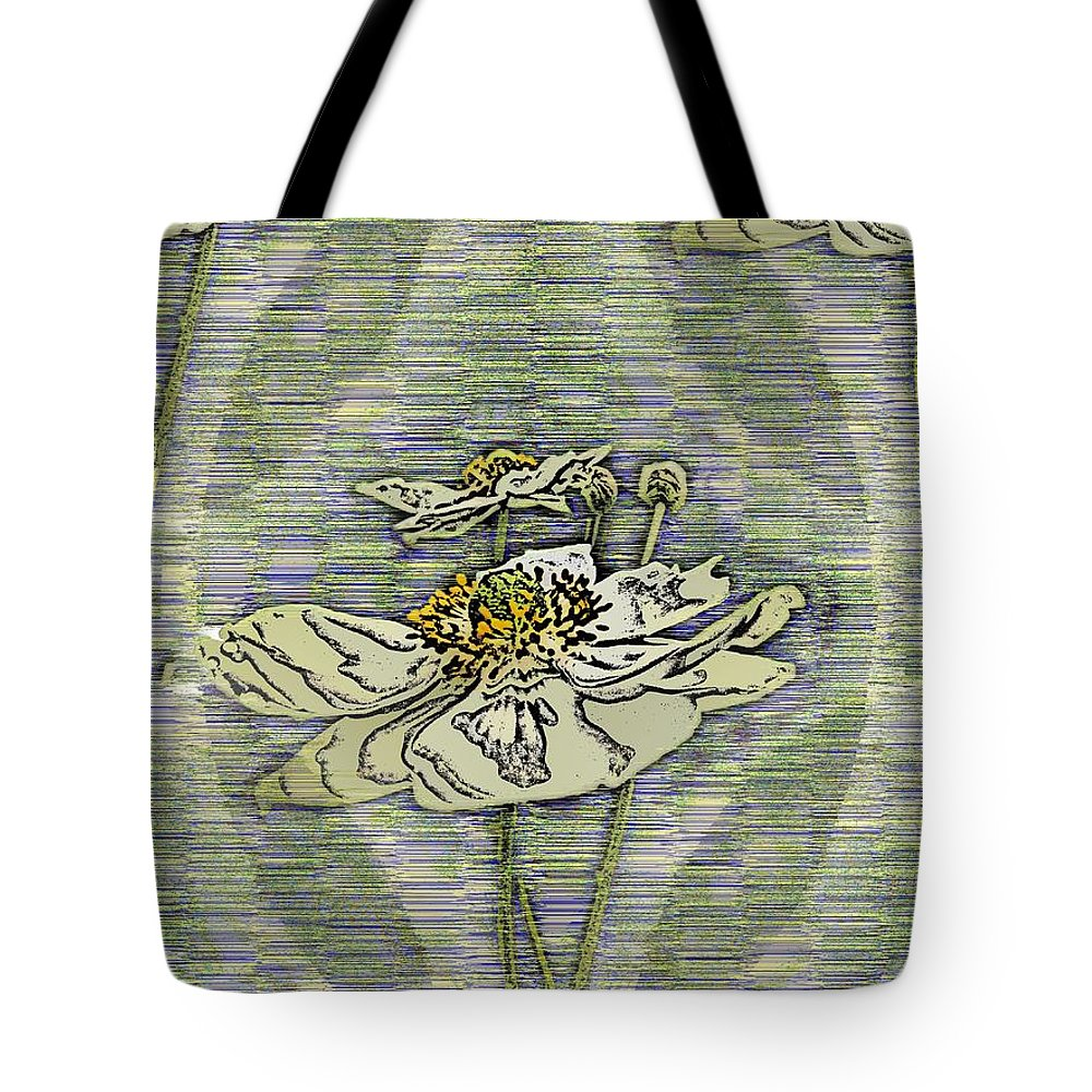 Abstract Tote Bag featuring the digital art Out Of The Mist 2 by Tim Allen