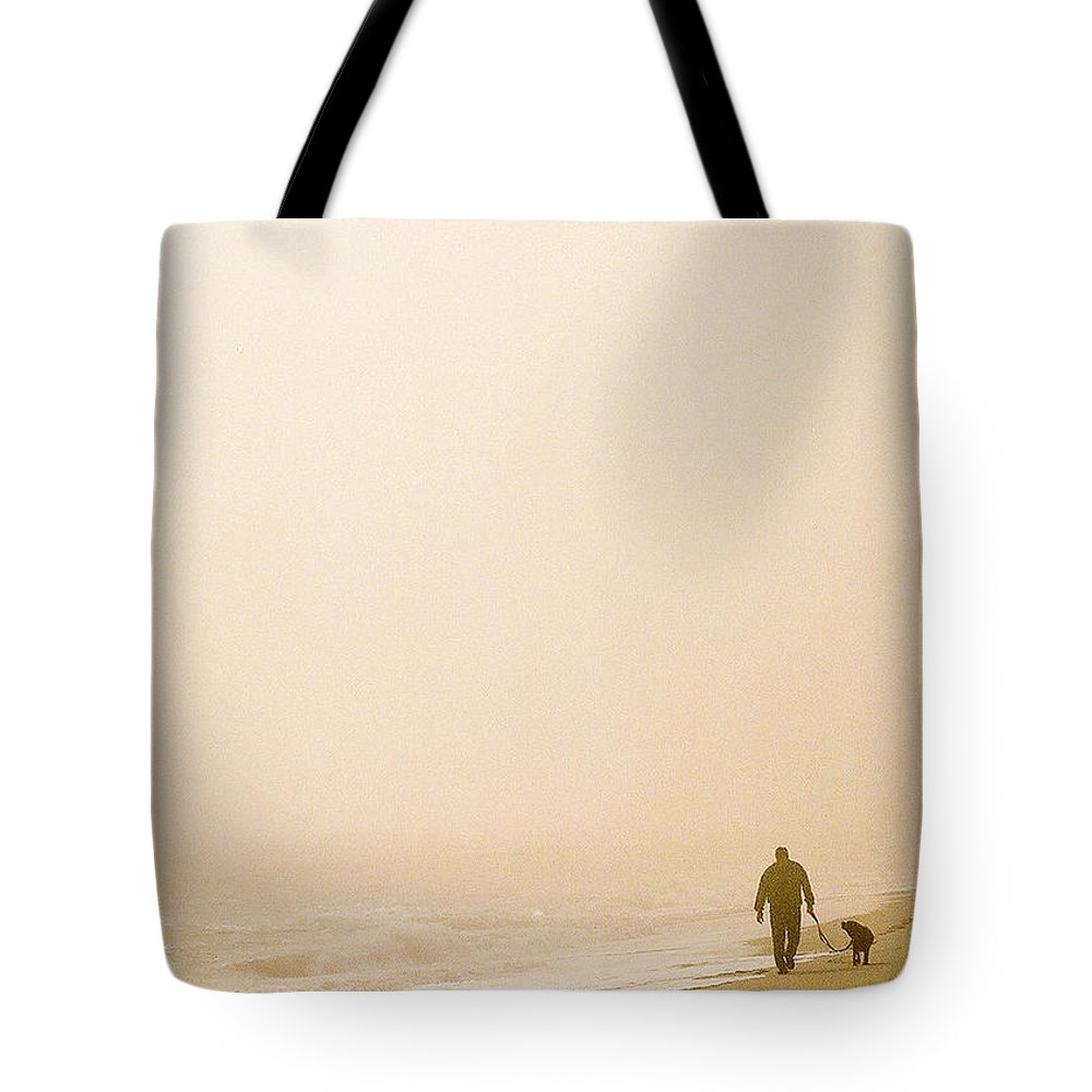 Landscape Tote Bag featuring the photograph Out Of The Mist by Steve Karol