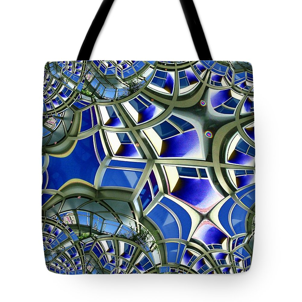 Windows Tote Bag featuring the photograph Out The Looking Glass by Tim Allen