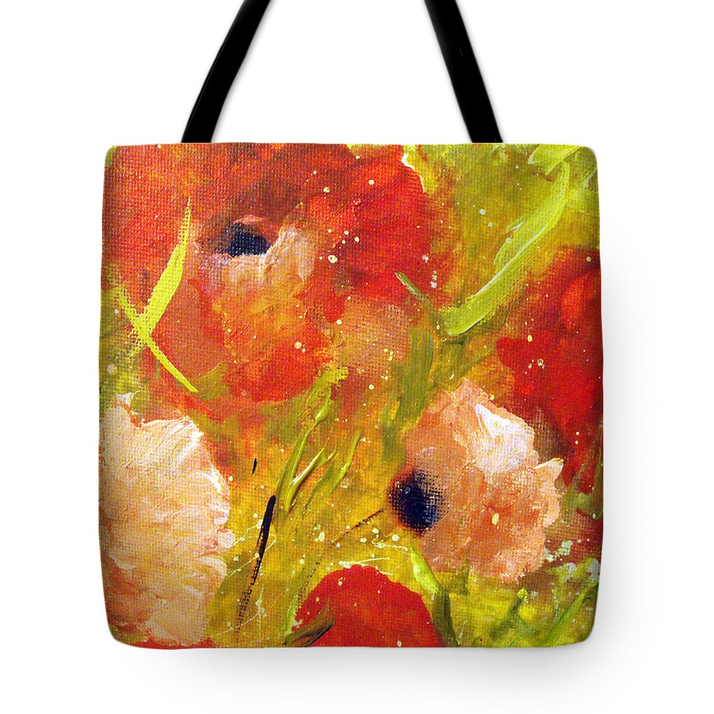 Decorative Tote Bag featuring the painting Out With The Sun by Ruth Palmer