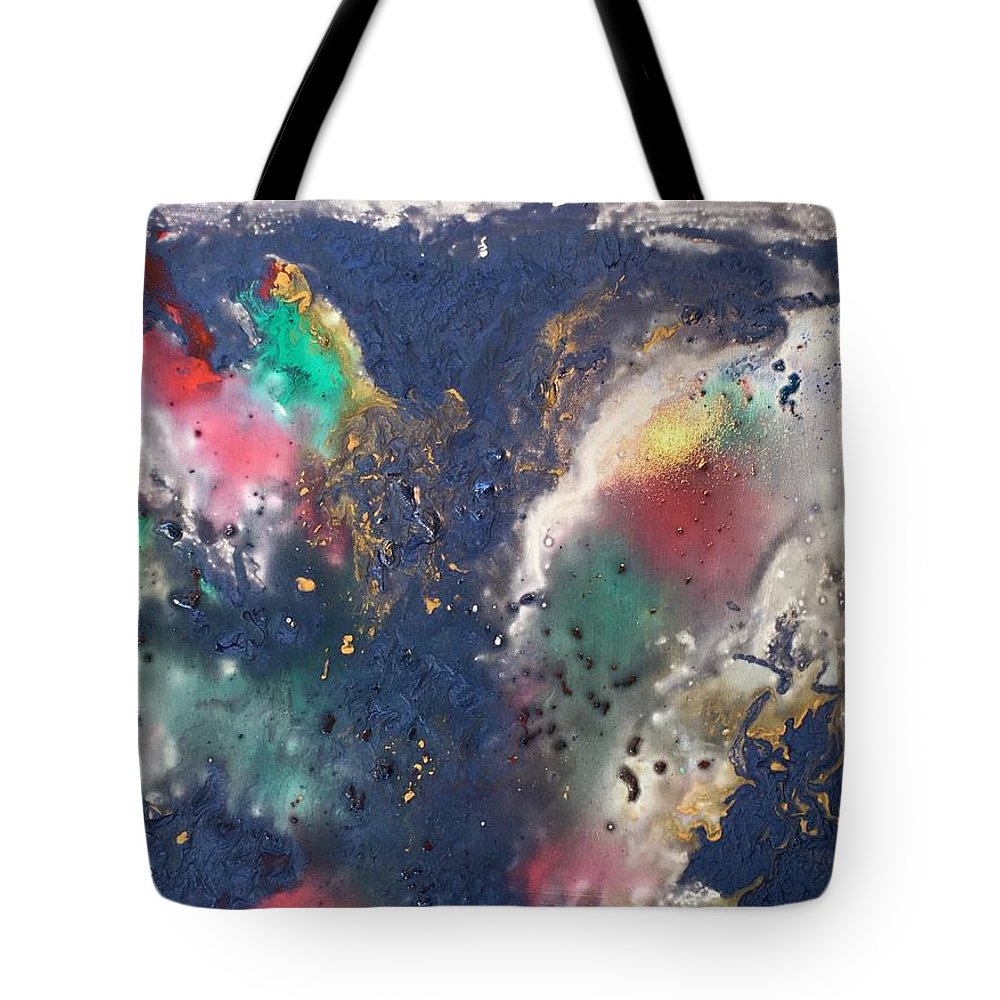 Abstract Of Space Tote Bag featuring the painting Outer Space by Marge Healy