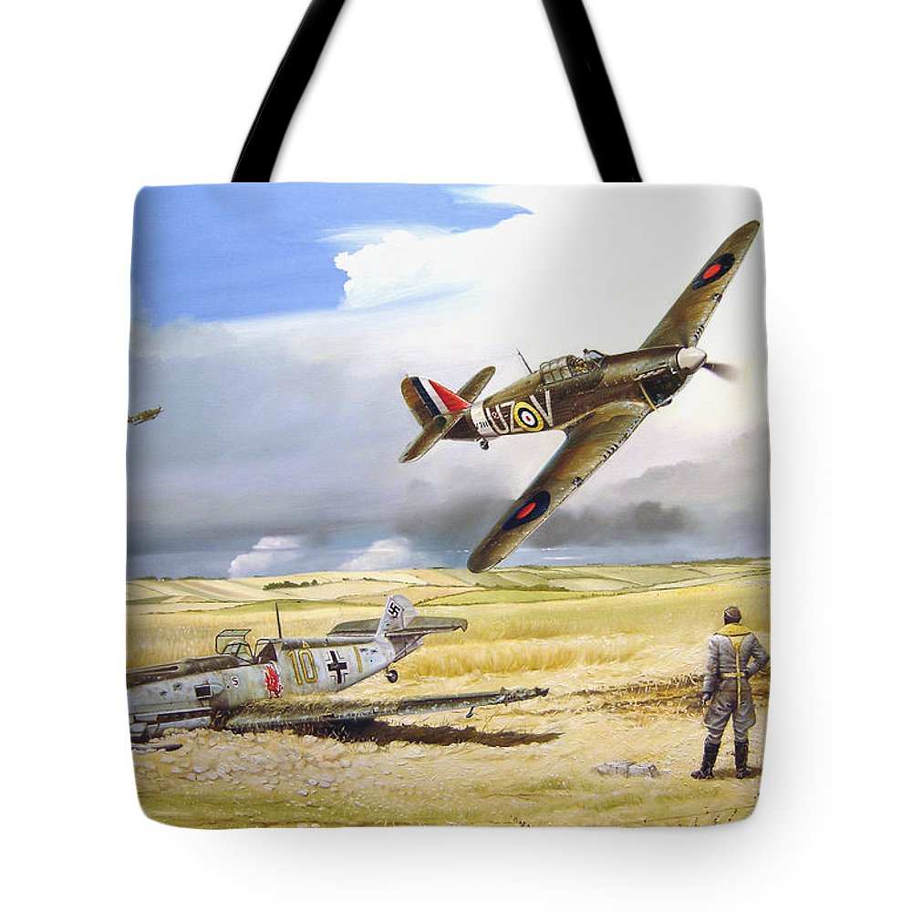 Painting Tote Bag featuring the painting Outgunned by Marc Stewart