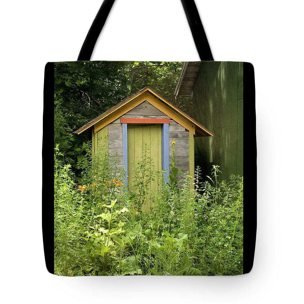 Outhouse Tote Bag featuring the photograph Outhouse by Tim Nyberg