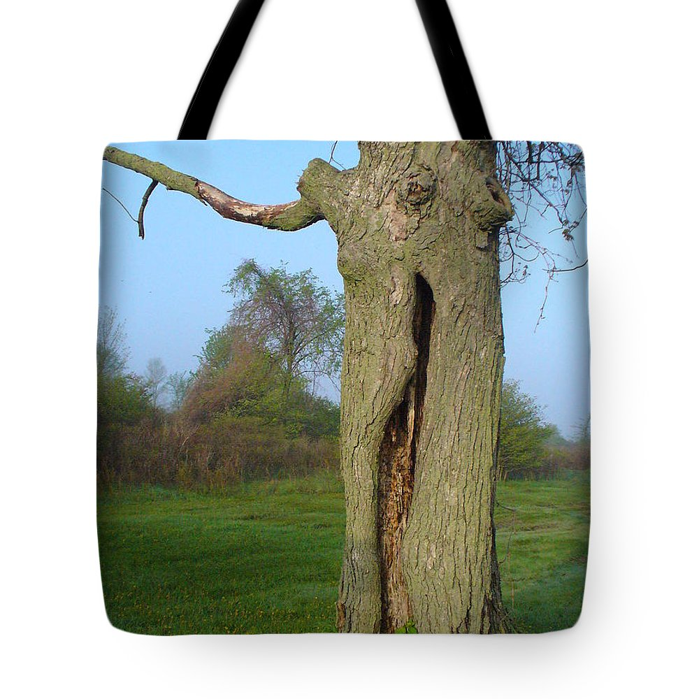 Tree Tote Bag featuring the photograph Outstanding In Her Field by Peggy King