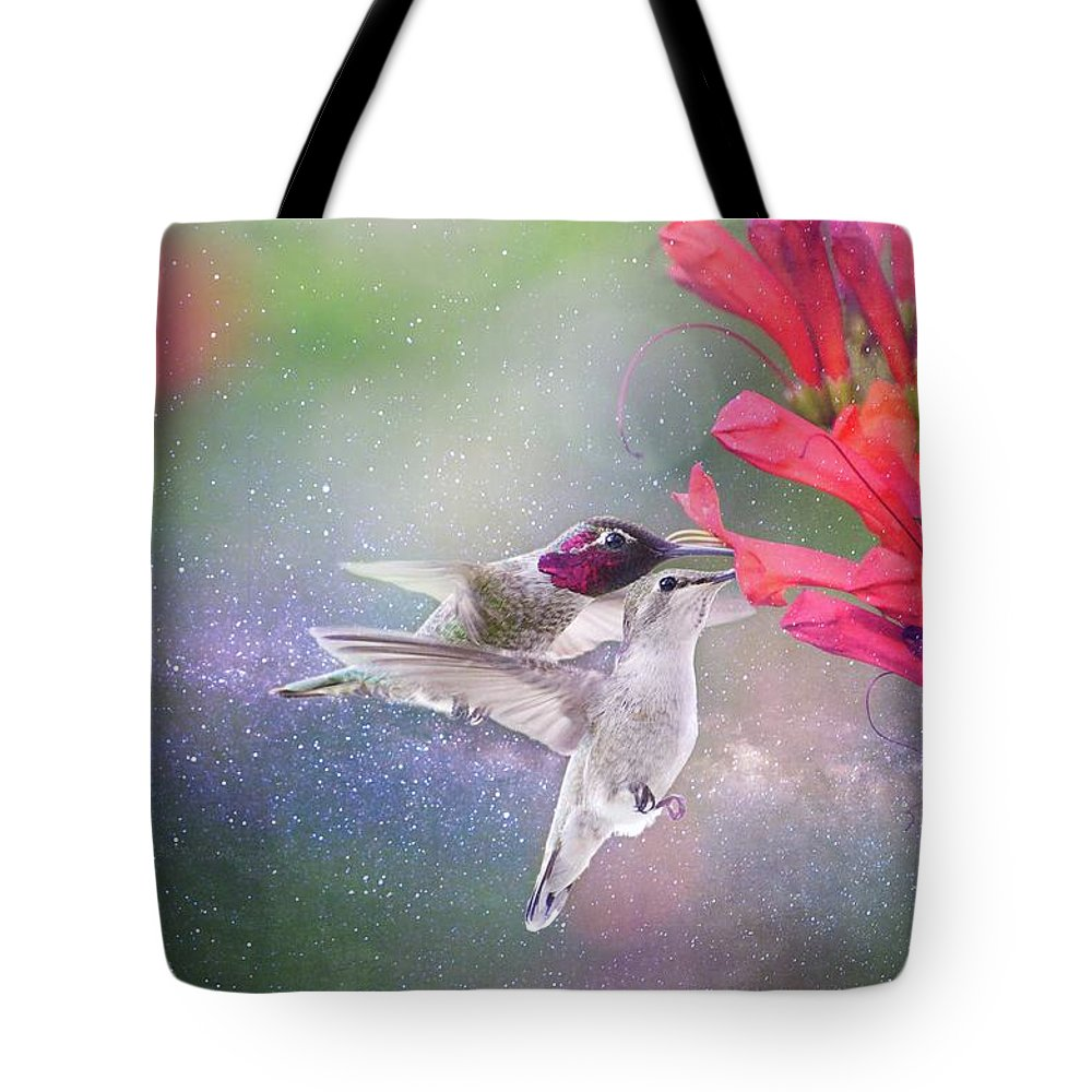 Hummingbirds Tote Bag featuring the photograph Out Of This World by Lynn Bauer