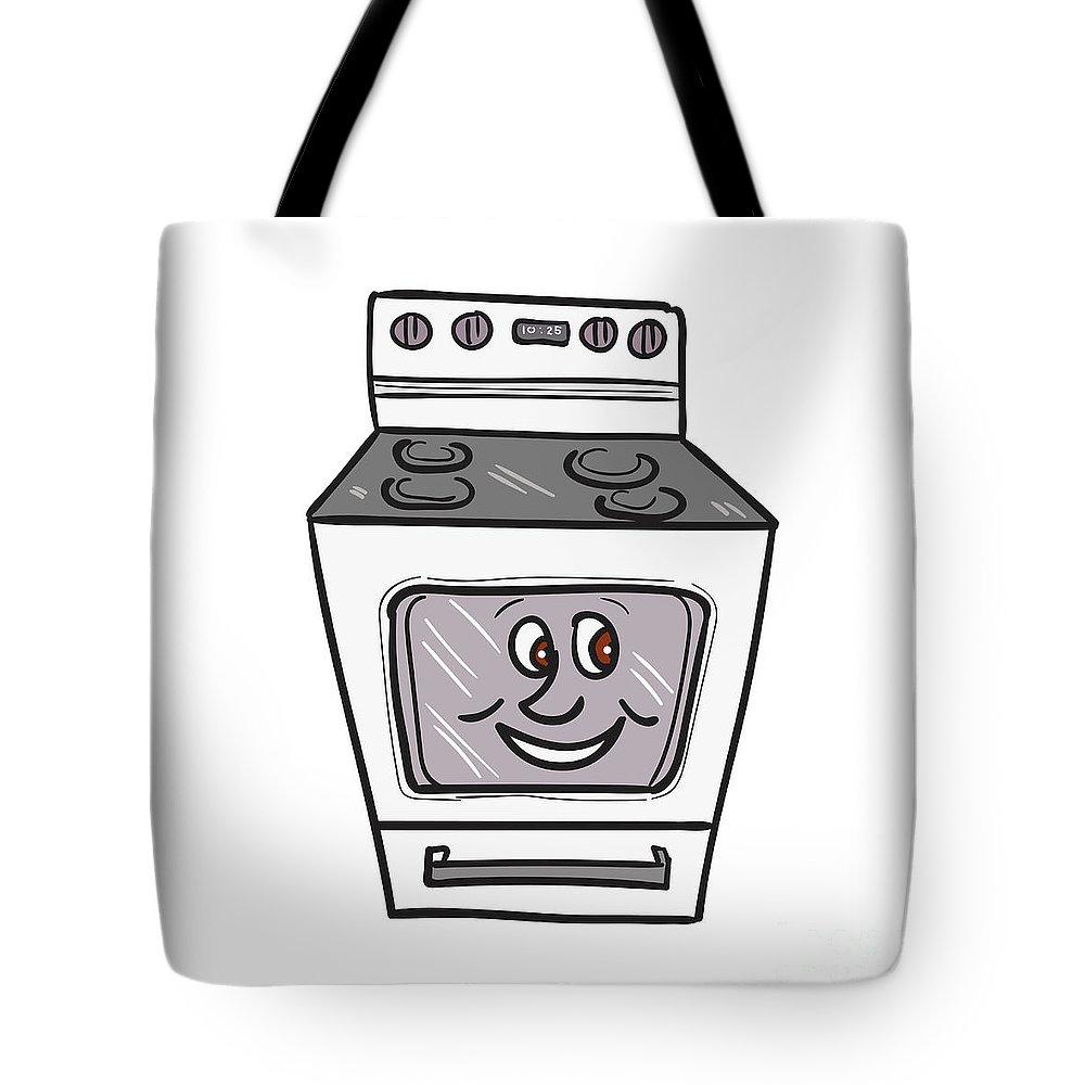 oven smiley face cartoon tote bag for sale by aloysius patrimonio