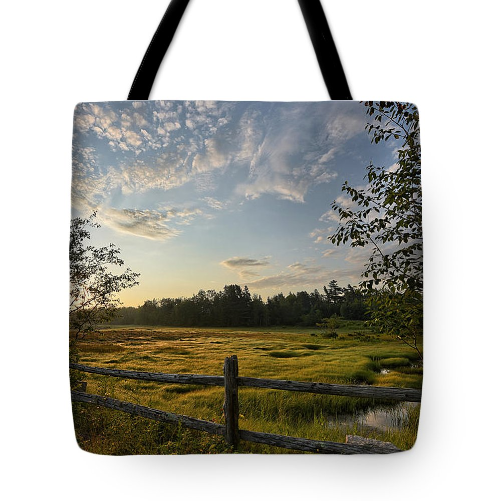 Fence Tote Bag featuring the photograph Over The Fence by Susan Garver