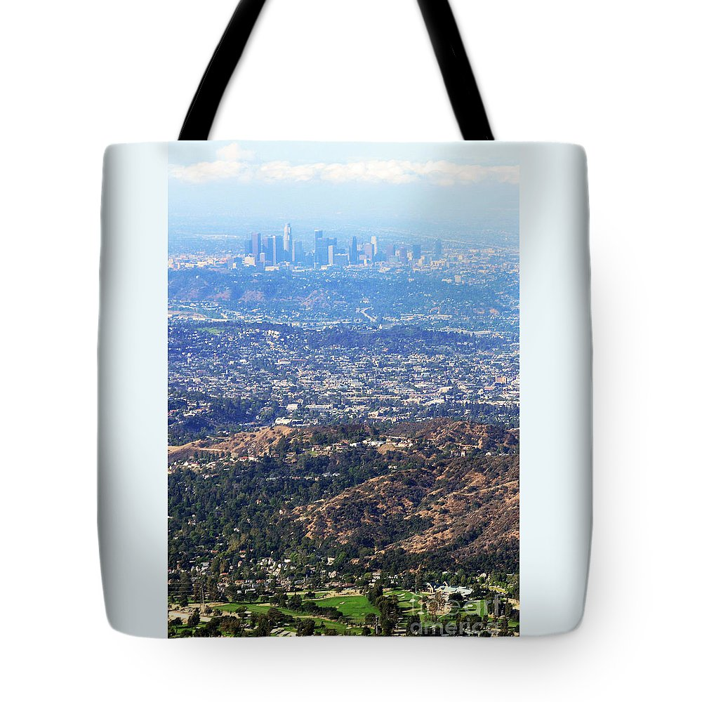Los Angeles Tote Bag featuring the photograph Over The Hills by Dan Holm