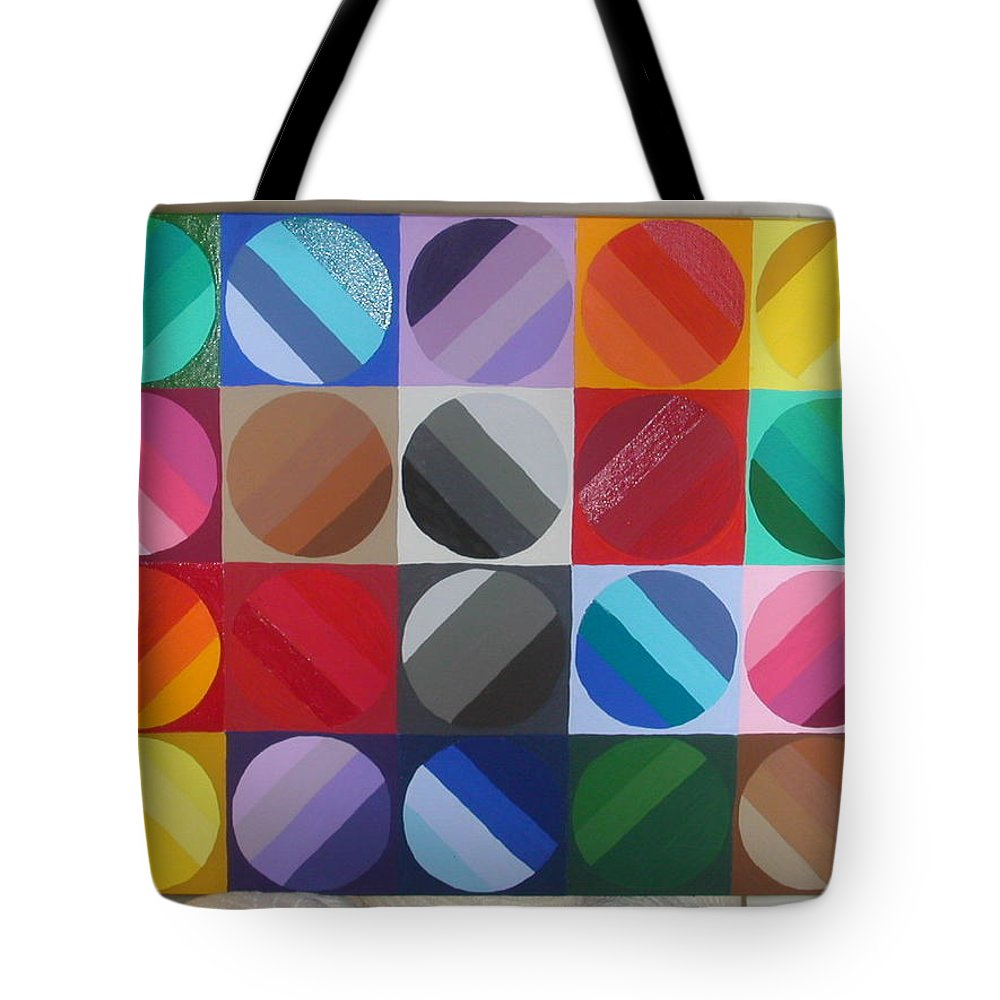 Green Tote Bag featuring the painting Over The Rainbow 2 by Gay Dallek
