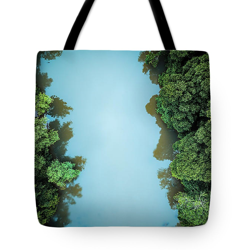 River Tote Bag featuring the photograph Over The River by Ant Pruitt
