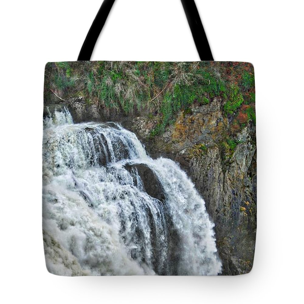 Hdr Tote Bag featuring the photograph Over The Top by David Coleman