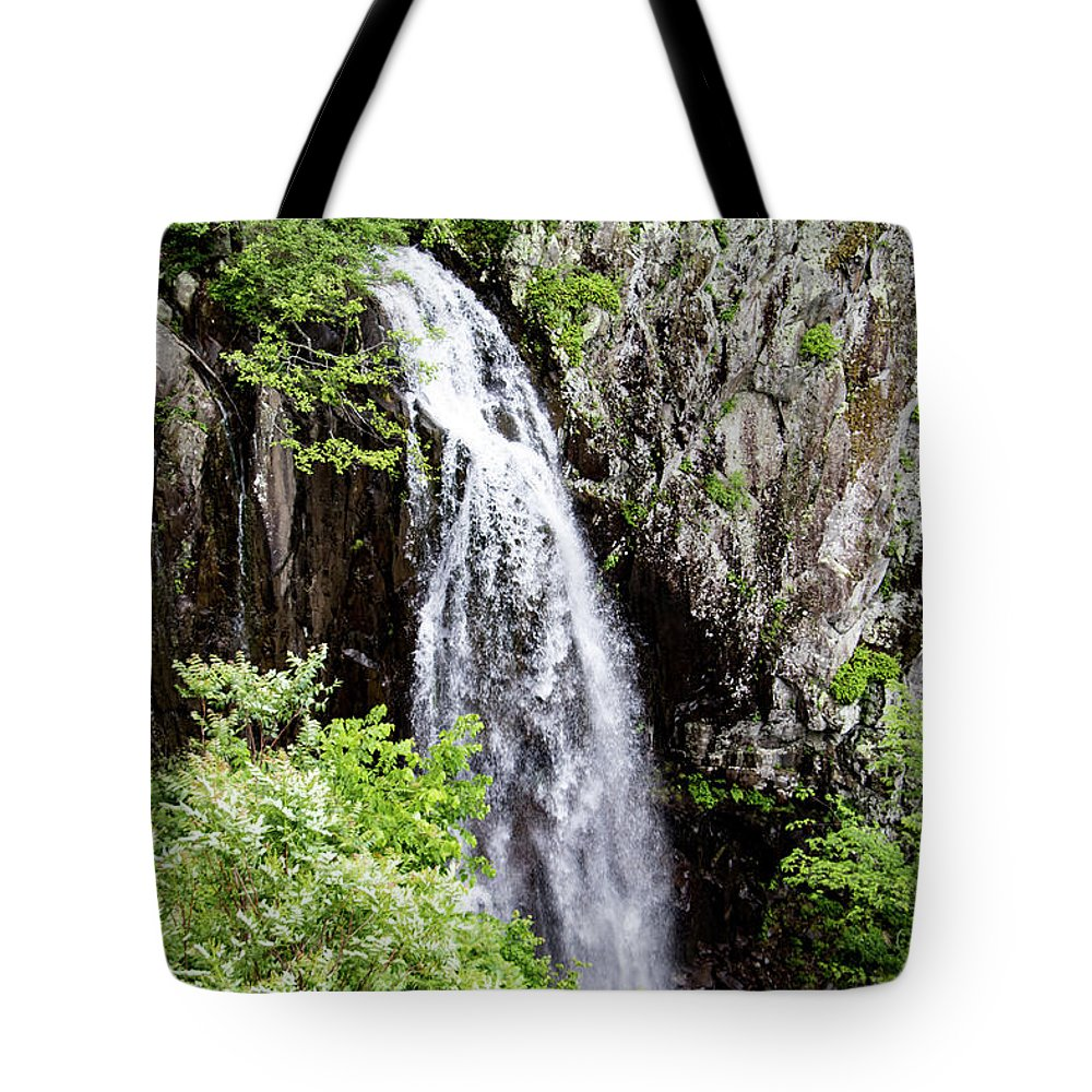 Waterfall Tote Bag featuring the photograph Overall Run Falls 2 by Matt Sexton