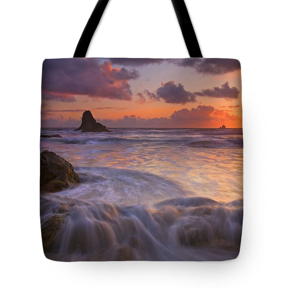 Sunset Tote Bag featuring the photograph Overcome by Mike Dawson
