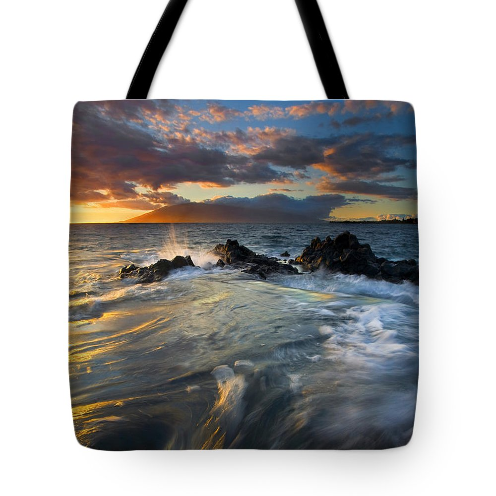 Cauldron Tote Bag featuring the photograph Overflow by Mike Dawson
