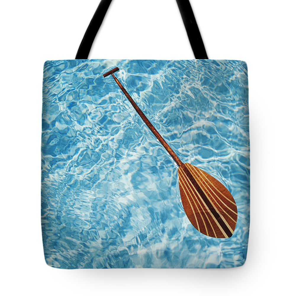 Above Tote Bag featuring the photograph Overhead View Of Paddle by Joss - Printscapes
