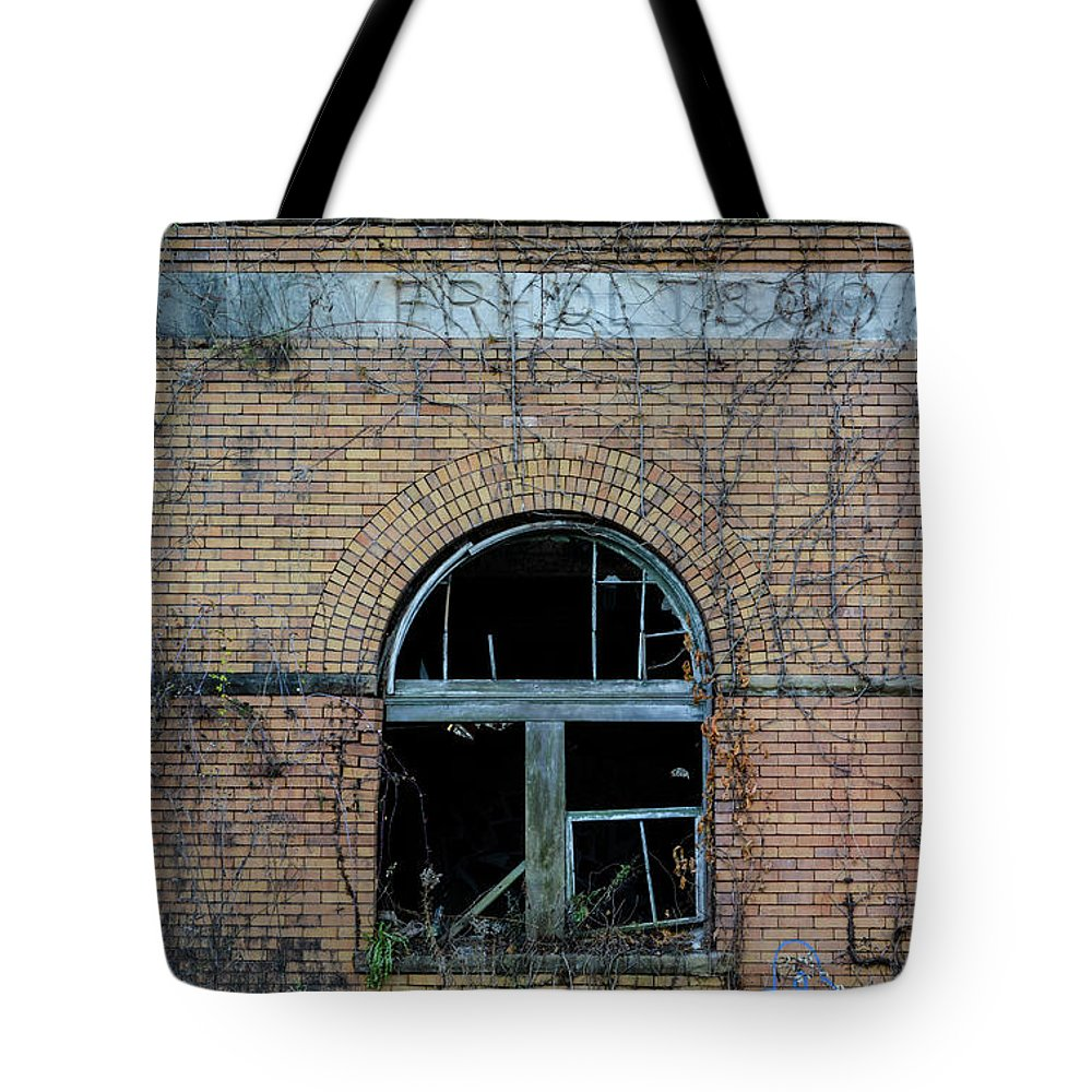 Tote Bag featuring the photograph Overholt Distillery by Jim Figgins