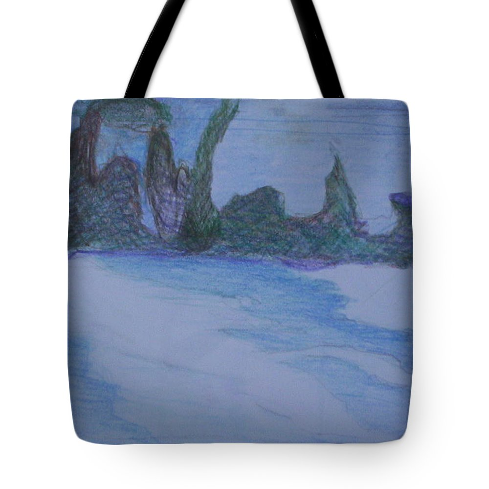 Abstract Painting Tote Bag featuring the painting Overlap by Suzanne Udell Levinger