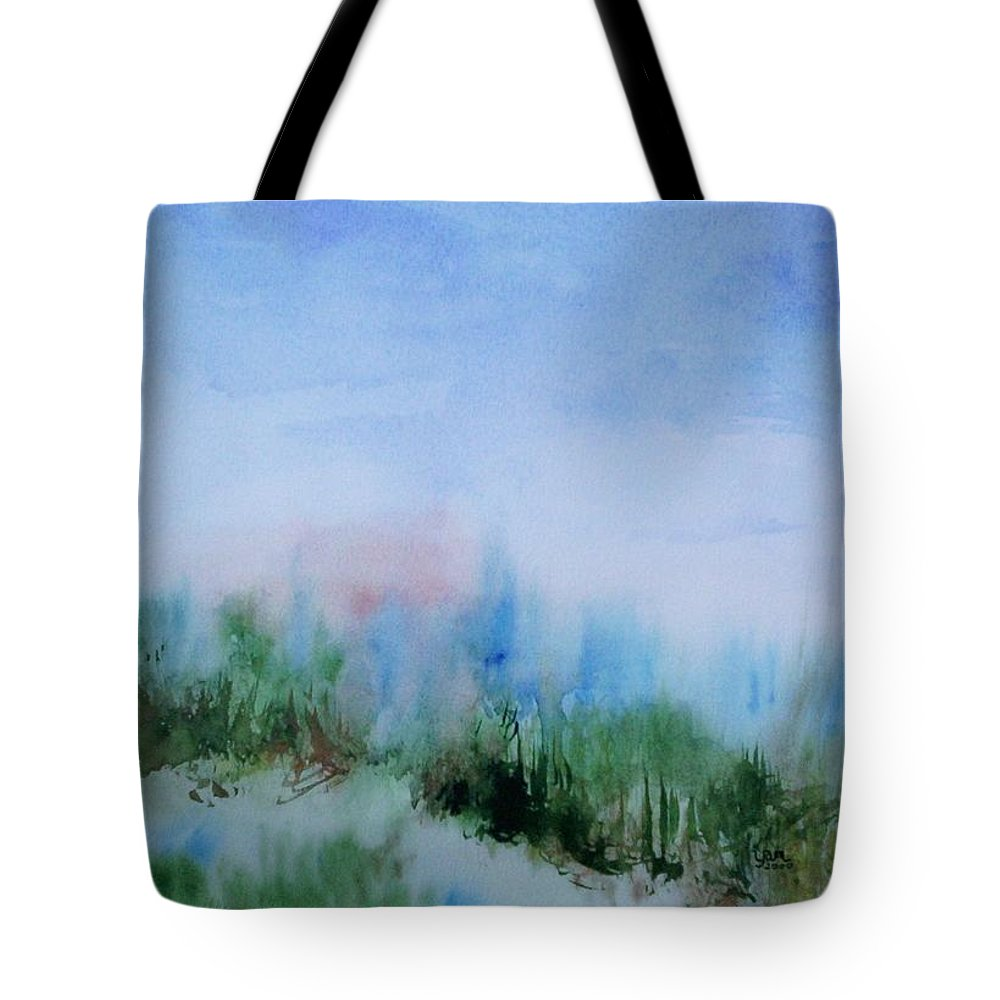 Landscape Tote Bag featuring the painting Overlook by Suzanne Udell Levinger